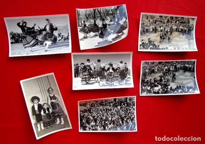 BURGOS. 7 FOTOS. BAILES EN TRAJE REGIONAL. GUARDIA CIVIL. AÑO: 1954. FOTO FEDE. BUEN ESTADO. (Fotografía Antigua - Fotomecánica)