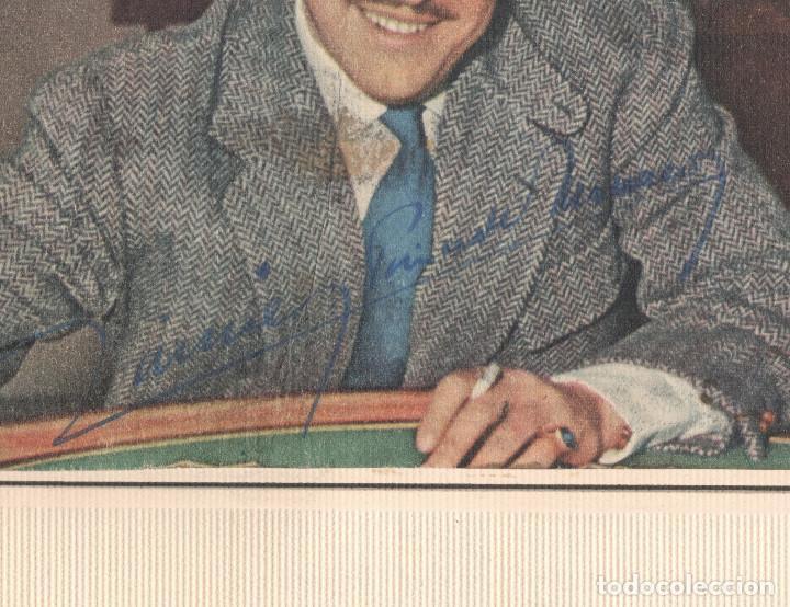 Fotografía antigua: Firma autógrafa del príncipe Raniero III de Mónaco, 1950s aprox. Foto 18x24cm. Soporte: 31x34 cm. - Foto 2 - 167954140