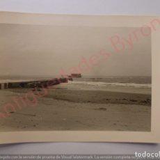 Fotografía antigua: FOTOGRAFÍA ANTIGUA ORIGINAL. ESPIGÓN. PLAYA (11,5 X 8,5 CM). Lote 168053880