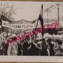 Fotografía antigua: SEVILLA, MANIFESTACION 4 DICIEMBRE 1977, PRO AUTONOMIA, 178X128MM. Lote 168088484