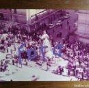 Fotografía antigua: FOTOGRAFÍA.FALLA HUMANISTA MARINER-MANUEL SIMÓ-I MÚSIC BARBIERI.FALLAS DE VALENCIA.FOTO AÑO 1983.. Lote 168336860