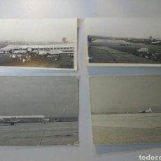 Fotografía antigua: ALMERÍA AEROPUERTO FOTOS AÑOS 60 LOTE DE 4 ORIGINALES. Lote 168496714