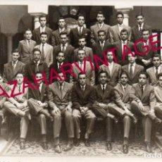 Fotografía antigua: SEVILLA, 1957, FOTO ESCOLAR PREU COLEGIO SAN FERNANDO MARISTAS, NOMBRES REVERSO, 178X128MM. Lote 168746264