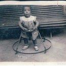 Fotografía antigua: FOTOGRAFIA NIÑO EN CORREPASILLO - TACA TA - 6 X 8,5 CM. Lote 168786012