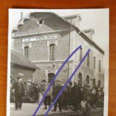 Fotografía antigua: ANTIGUA FOTOGRAFÍA DE LA MOLINA.GERONA. LA ESTACIÓN DEL TREN. FOTO AÑO 1932.. Lote 168827596