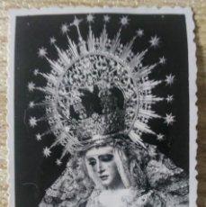 Fotografía antigua: ESTAMPA FOTO VIRGEN ESPERANZA DE TRIANA SEVILLA SERRANO. Lote 168891328