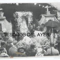 Fotografía antigua: FOTOGRAFIA DE F. PACHECA, FOTOGRAFO VIGO, ROMERIA, PROCESION, FIESTAS PATRONALES, GRAN TAMAÑO, MIDE. Lote 168892124