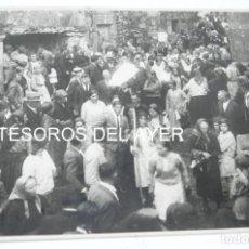 Fotografía antigua: FOTOGRAFIA DE F. PACHECA, FOTORAFO VIGO, ROMERIA, PROCESION, FIESTAS PATRONALES, GRAN TAMAÑO, MIDE 2. Lote 168892208