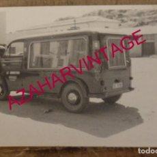 Fotografía antigua: MONTEMAYOR, CACERES, 1964, COCHE FUNEBRE , FUNERARIA LA HUMANITARIA, RARA, 105X75MM. Lote 169178184