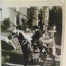 Fotografía antigua: MINUTERO DE FOTOGRAFO DE FERIA : NIÑA VESTIDA DE FLAMENCA Y NIÑO DE CAMPERO EN CABALLITO. Lote 169234078