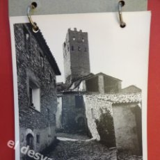 Fotografía antigua: LUZÁS (HUESCA). LOTE FOTOS 18 X 12 CTMS. ASPECTOS IGLESIA ROMÁNICA. AÑOS 1950-60S. Lote 169315060
