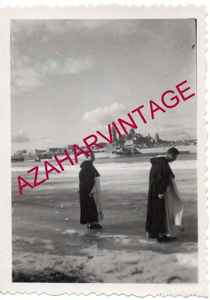 SALAMANCA, 1956, RIO TORMES HELADO, 90X64MM (Fotografía Antigua - Fotomecánica)