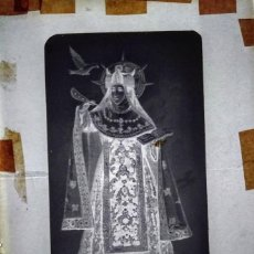 Fotografía antigua: ALBA DE TORMES SALAMANCA ANTIGUO CLICHÉ DE SANTA TERESA DE JESÚS NEGATIVO EN CRISTAL. Lote 169348060