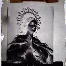 Fotografía antigua: VILLAFRANCA DE LOS BARROS BADAJOZ ANTIGUO CLICHÉ DE LA INMACULADA CONCEPCIÓN COLEGIO SAN JOSÉ. Lote 169447076