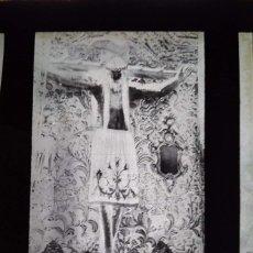 Fotografía antigua: ORENSE ANTIGUO CLICHÉ DE SANTÍSIMO CRISTO DE ORENSE NEGATIVO EN CRISTAL. Lote 169449284