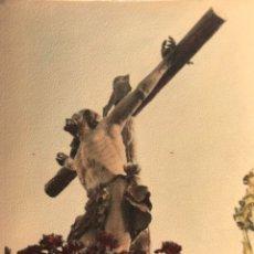 """Fotografía antigua: SEMANA SANTA SEVILLA. CRISTO DE LA EXPIRACIÓN, """"EL CACHORRO"""". TRIANA. COLOREADA.. Lote 169825161"""
