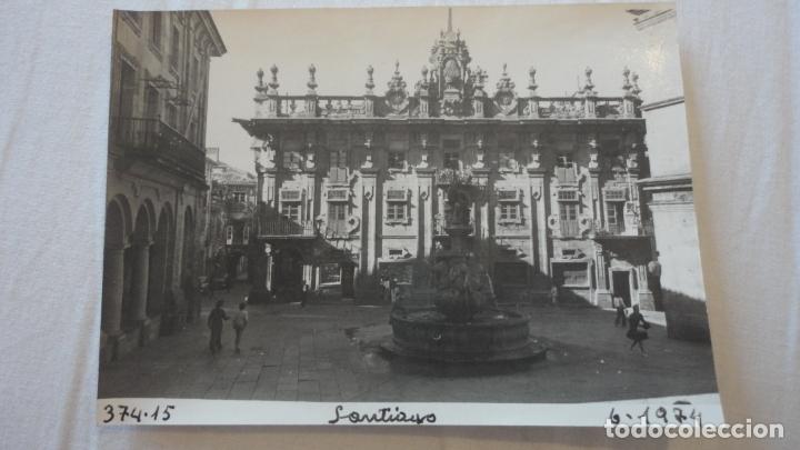 ANTIGUA FOTOGRAFIA.VISTA DE SANTIAGO DE COMPOSTELA.1974 (Fotografía Antigua - Fotomecánica)