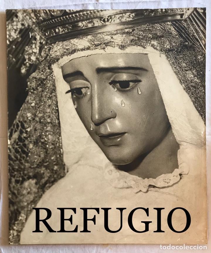 Fotografía antigua: SEMANA SANTA SEVILLA. ANTIGUA FOTOGRAFÍA SOBRE TABLEX.VIRGEN REFUGIO, SAN BERNARDO. 47 x 56 - Foto 2 - 170243897
