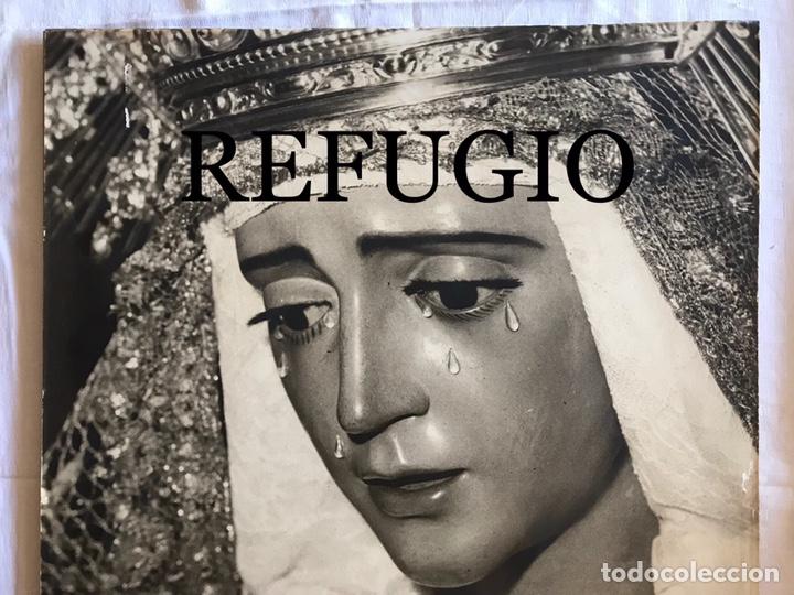 Fotografía antigua: SEMANA SANTA SEVILLA. ANTIGUA FOTOGRAFÍA SOBRE TABLEX.VIRGEN REFUGIO, SAN BERNARDO. 47 x 56 - Foto 3 - 170243897