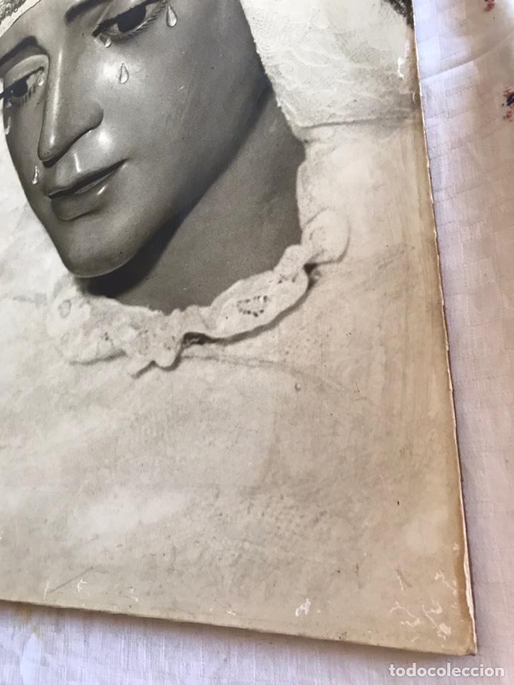Fotografía antigua: SEMANA SANTA SEVILLA. ANTIGUA FOTOGRAFÍA SOBRE TABLEX.VIRGEN REFUGIO, SAN BERNARDO. 47 x 56 - Foto 4 - 170243897