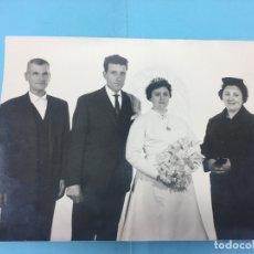 Fotografía antigua: FOTOGRAFIA DE BODA, MATRIMONIO Y PADRINOS - ESTUDIOS RICARDO GARCIA - ONTENIENTE. Lote 170407692