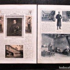 Fotografía antigua: PALACIO DE LIRIA, MADIRD. CIRCA 1919. CASA DE ALBA, DUQUESA. 3 HOJAS.. Lote 171094788