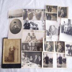 Fotografía antigua: LOTE DE 15 FOTOGRAFIAS A CORUÑA GALICIA FERRER, FOTOGRAFOS.... Lote 171101167