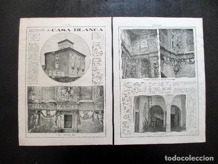VALLADOLID. C. 1916. LA CASA BLANCA DE MEDINA DEL CAMPO. ARQUITECTURA. (Fotografía Antigua - Fotomecánica)