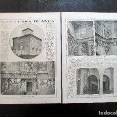 Fotografía antigua: VALLADOLID. C. 1916. LA CASA BLANCA DE MEDINA DEL CAMPO. ARQUITECTURA. . Lote 171111180