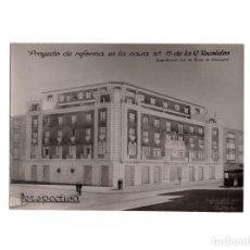 Fotografía antigua: MADRID.- PROYECTO DE REFORMA EN LA CASA Nº 15 DE CALLE RECOLETOS. SEÑORES RUIZ SALAZAR. 14,5X10,5. Lote 171134068