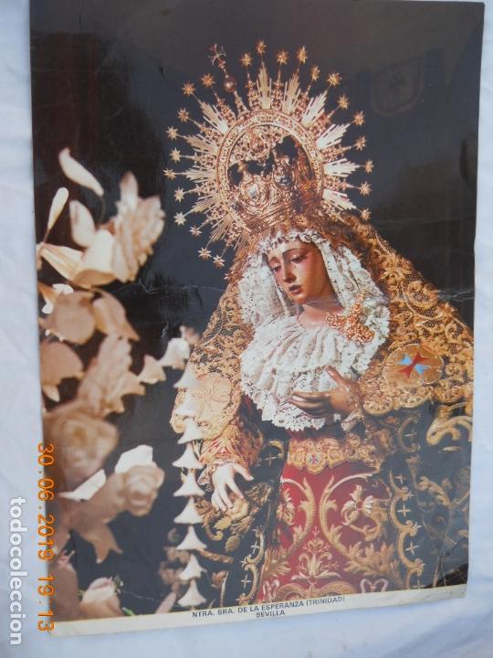 FOTOGRAFÍA ESTUDIOS HARETON SEVILLA - NTRA. SRA. DE LA ESPERANZA (TRINIDAD). AÑOS 70. D) (Fotografía Antigua - Fotomecánica)