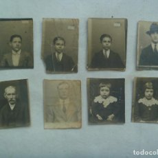 Fotografía antigua: LOTE DE 8 FOTOS PEQUEÑAS DE CARNET DE PRINCIPIOS DE SIGLO: HOMBRES Y NIÑOS. Lote 171994415