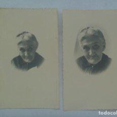 Fotografía antigua: LOTE DE 2 FOTOS DE LA MISMA ANCIANA . PRINCIPIOS DE SIGLO. Lote 172080562