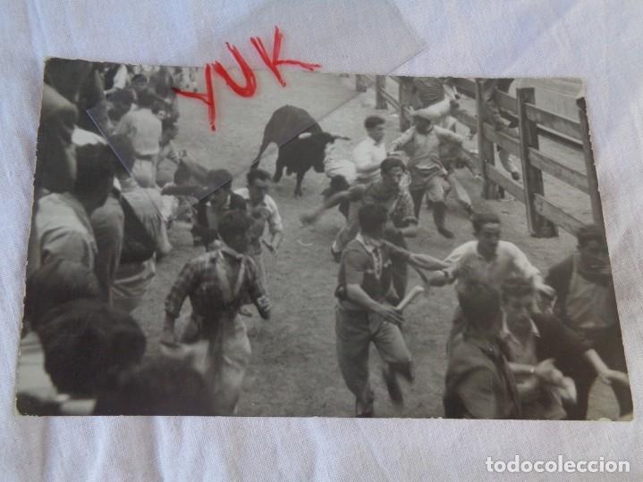 FOTO DEL ENCIERRO DE SAN FERMIN AÑOS 50/60 PAMPLONA (Fotografía Antigua - Fotomecánica)