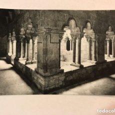 Fotografía antigua: BARCELONA. FOTOGRAFÍA IGLESIA DE SAN PAU DEL CAMP. EL CLAUSTRO. ARCHIVO FOTOGRAFÍCO CUYAS (H.1950?). Lote 174268427