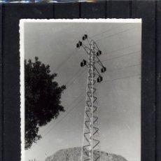 Fotografía antigua: FOTOGRAFIA DE UN CASTILLETE DE LA LINEA ELECTRICA DEL CHORRO (MALAGA).. Lote 175031337