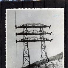 Fotografía antigua: FTOGRAFIA DE CASTILLETE DOBLE DE UN LINEA ELECTICA EN LA ZONA DE VELEZ .. Lote 175031494