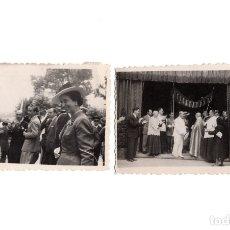 Fotografia antica: BILBAO.- DOS FOTOGRAFÍAS. FRANCO Y CARMEN POLO. PROCESIÓN VIRGEN DE BEGOÑA. 6X8. Lote 175943229