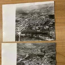 Fotografía antigua: 2 FOTOS AEREAS BRIVIESCA FOTOS AEREAS PAISAJES ESPAÑOLES A-0019. Lote 175965208