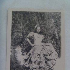 Fotografía antigua: MINUTERO DE FOTOGRAFO DE FERIA : SEÑORITA VESTIDA DE FLAMENCA. Lote 176206819