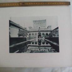Fotografía antigua: GRANADA ALHAMBRA, PATIO DE LOS ARRAYANES. 1893. IMPRESA POR HAUSER Y MENET ANTIGUA FOTOTIPIA.. Lote 176755804