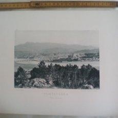 Fotografía antigua: PONTEVEDRA. VISTA GENERAL. 1893. IMPRESA POR HAUSER Y MENET ANTIGUA FOTOTIPIA.. Lote 176771318