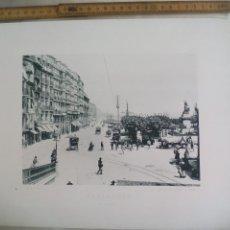 Fotografía antigua: SANTANDER, EL MUELLE. 1892. IMPRESA POR HAUSER Y MENET ANTIGUA FOTOTIPIA.. Lote 176771695