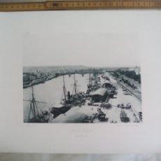 Fotografía antigua: SEGOVIA, EL MUELLE. 1893. IMPRESA POR HAUSER Y MENET ANTIGUA FOTOTIPIA.. Lote 176771954