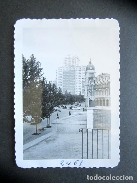 AÑO 1953. EDIFICIO ESPAÑA, MADRID. ANTIGUA FOTOGRAFÍA. 9 X 6,5 CM. (Fotografía Antigua - Fotomecánica)