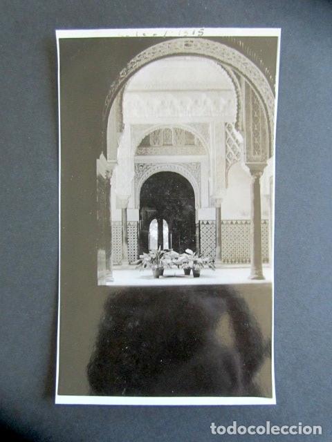 AÑO 1932. GRANADA. ALHAMBRA. SALÓN DE EMBAJADORES. ANTIGUA FOTOGRAFÍA. 11,3 X 7 CM. (Fotografía Antigua - Fotomecánica)