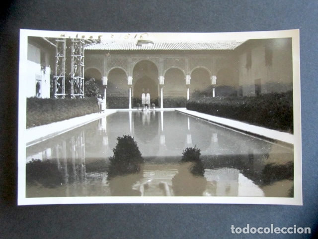 AÑO 1932. GRANADA. PATIO DE ARRAYANES. ANTIGUA FOTOGRAFÍA. 11,3 X 7 CM. (Fotografía Antigua - Fotomecánica)
