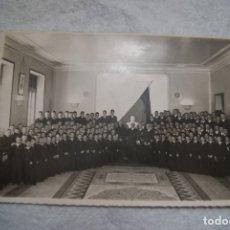Fotografía antigua: HOMENAJE EN EL COLEGIO DE HUERFANOS DE LA ARMADA MADRID CIUDAD LINEAL 1943 MILITAR. Lote 177182930
