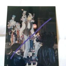 Fotografía antigua: FOTOGRAFÍA. FALLA ESPARTERO. FALLAS DE VALENCIA. FOTO AÑO 1992.. Lote 177231895