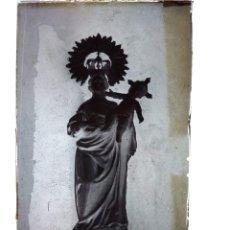 Fotografía antigua: MALLÉN ZARAGOZA ANTIGUO CLICHÉ DE LA STMA VIRGEN DEL PUY NEGATIVO EN CRISTAL. Lote 177272479